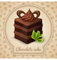 Chocolate cake poster vector image vector image