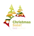 Christmas and New Year promotion banner design vector image vector image