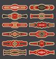 cigar labels colorful vintage banded badges for vector image vector image