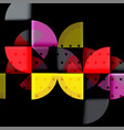 circle elements on black background vector image vector image
