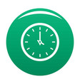 clock time icon green vector image