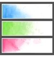 Colorful watercolor abstract banners vector | Price: 1 Credit (USD $1)