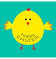 Cute easter chicken Card vector image vector image