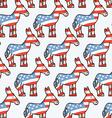 Democrat Donkey seamless pattern Donkey texture vector image vector image