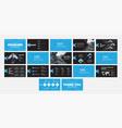 design blue and black presentation slides vector image