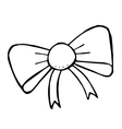 doodle bow isolated hand drawn vector image vector image