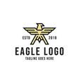 eagle logo design inspiration vector image vector image