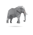 Elephant abstract isolated on a white backgrounds vector image vector image
