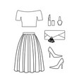 fashion look coloring page vector image vector image