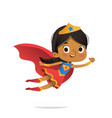 flying african-american girl wearing colorful vector image vector image