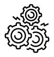 gear supply icon outline style vector image vector image