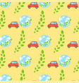 globe earth geography cars seamless pattern planet vector image