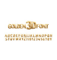 golden 3d font vector image