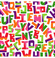 hand lubberly cut bright colorful alphabet vector image vector image