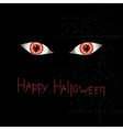 Happy Halloween card with red eyes vector image vector image