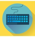 Keyboard icon with long shadow Flat style vector image