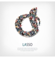 lasso people 3d vector image