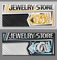 layouts for jewelry store vector image vector image