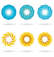 logo flower icon set vector image vector image