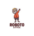 logo robot mascot cartoon style vector image