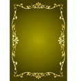 Luxury green background vector image vector image