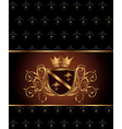 luxury vintage frame template vector image
