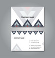 modern geometric business card design template vector image vector image