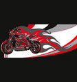 motorcycle racing with fire vector image