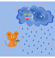 Mouse And Rain Cloud vector image