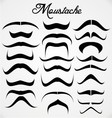 Moustache Collection vector image vector image