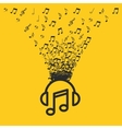 music entertainment line icon vector image