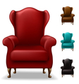 Old armchair set vector image vector image