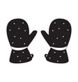 pair of winter gloves icon vector image vector image