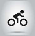 people on bicycle sign icon in flat style bike on vector image vector image
