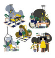 people relax at home cartoon flat vector image vector image