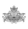 Persian or indian paisley floral element vector image vector image