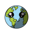 planet earh cartoon vector image