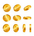 pound gold coins isolated on white background vector image