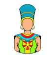 queen egypt icon cartoon vector image