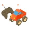 Radio-controlled car icon cartoon style vector image