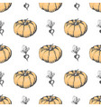 ripe pumpkin and monochrome beet endless texture vector image