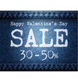 Sale Jeans Background vector image