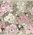 seamless pattern of wild roses blossom branch vector image vector image
