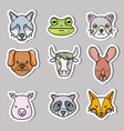 set cute natural animals design vector image vector image
