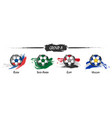set of football or soccer national team group a vector image