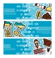 Set of Horizontal Banners about Ukraine vector image vector image