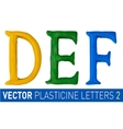 Set of plasticine letters of english alphabet vector image