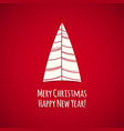 the red christmas card in scandinavian style vector image