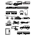 Transport vehicles icons set vector image vector image