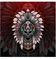 tribal chief skull head esport mascot logo vector image vector image